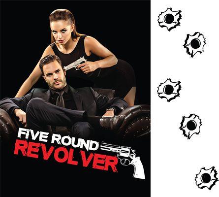 Gun - Revolver with cards