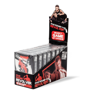 Five-Round-Revolver Card Game Display Box